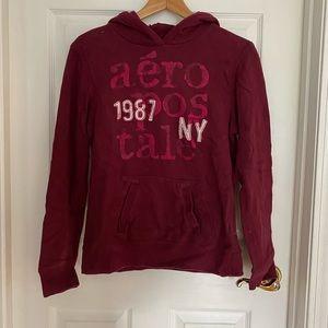 Burgundy Aeropostale Hoodie / Sweatshirt